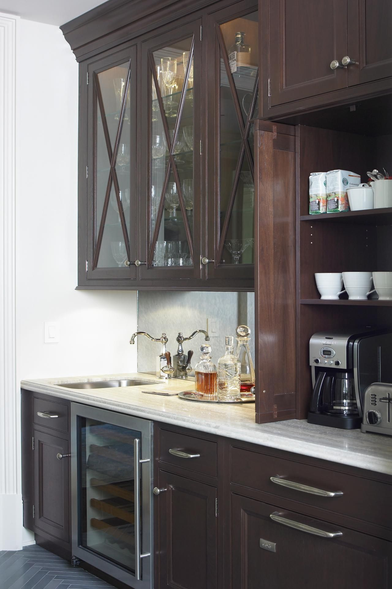 The Well Stocked Butler Pantry Is Equipped With Both A Wet Bar And