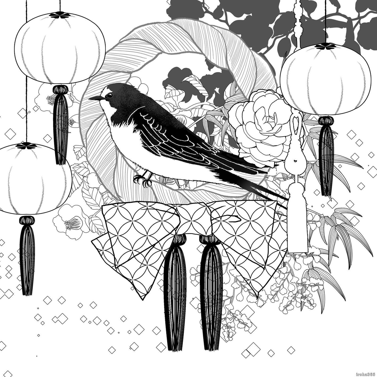 Colour book art - Japanese Design Coloring Book Adult Coloring Book Art Therapy 6 34 00