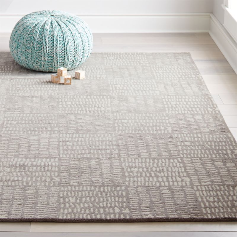 You Can Count On Our Tally Grey Kids Area Rug To Fit In Any