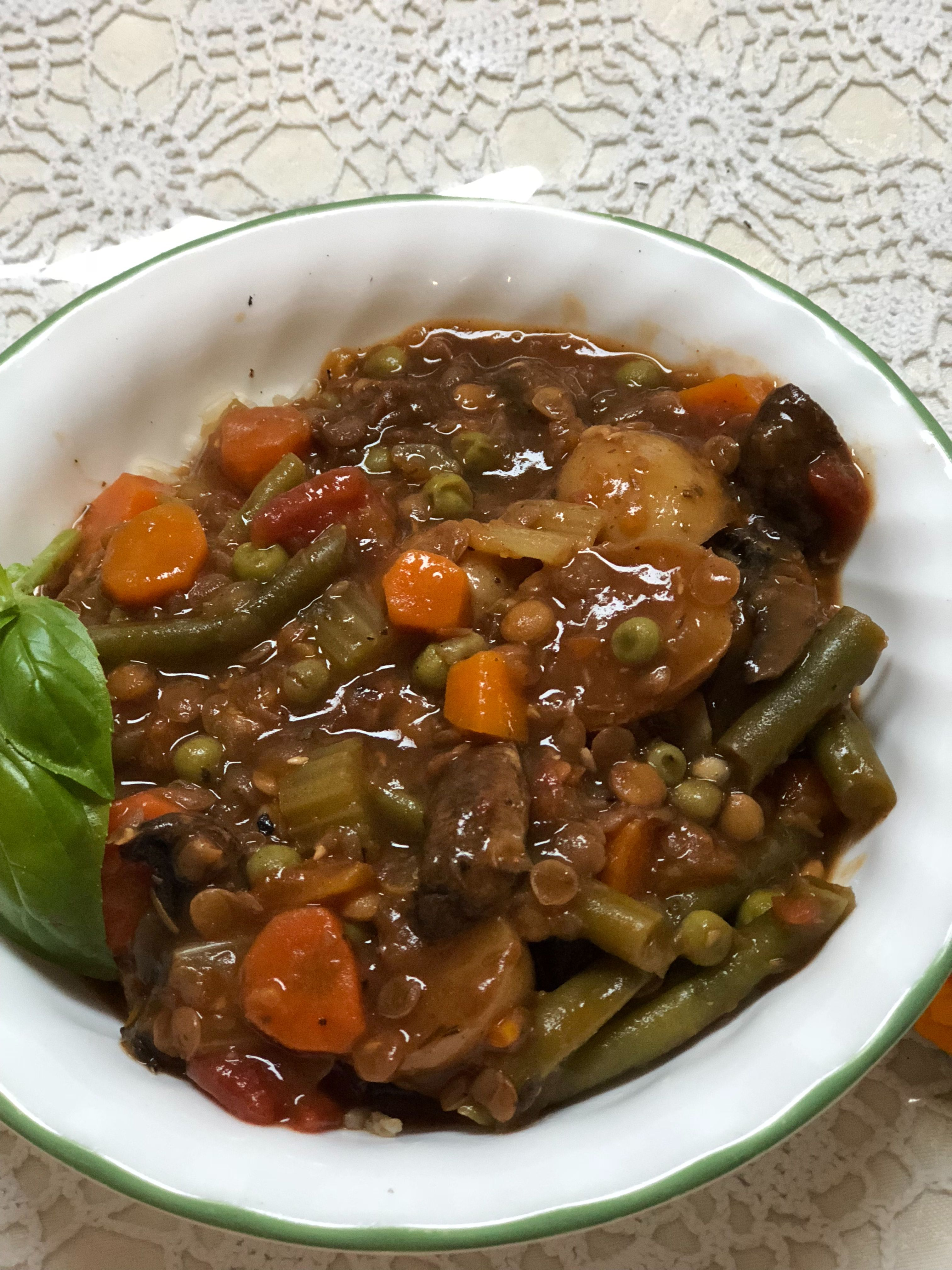 Hearty instant pot beefless stew whole food recipes