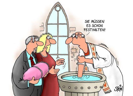 Taufe: Sie müssen es schon festhalten! - catprintcards | Lustige ...