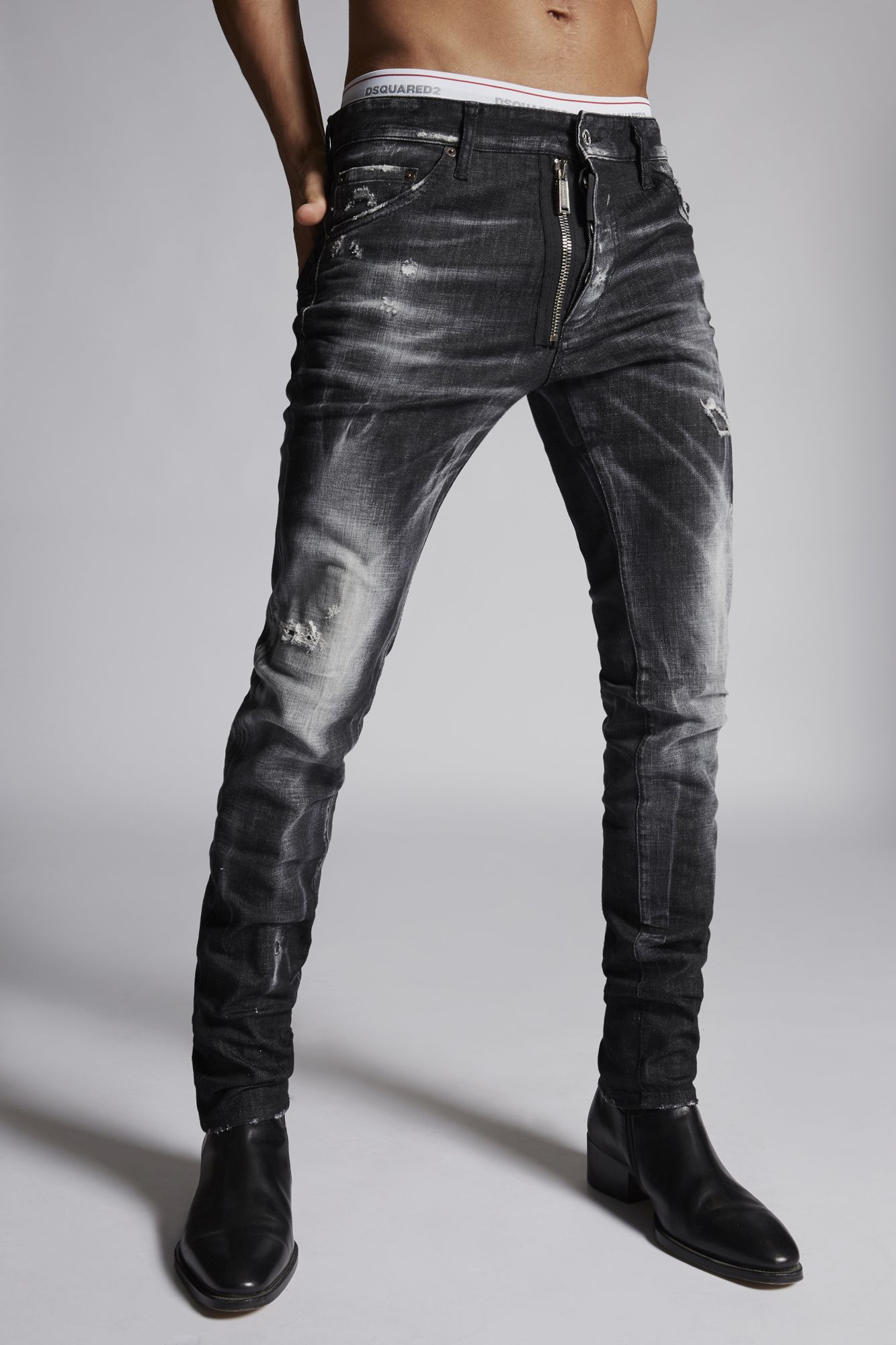 Dsquared2 Cool Men/'s Black  Slim Fit Stretch Denim Jenas