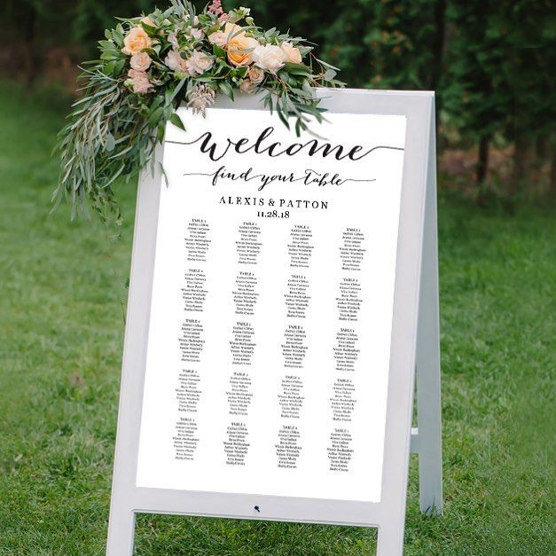 turn a sandwich board into a wedding seating chart it s easy to