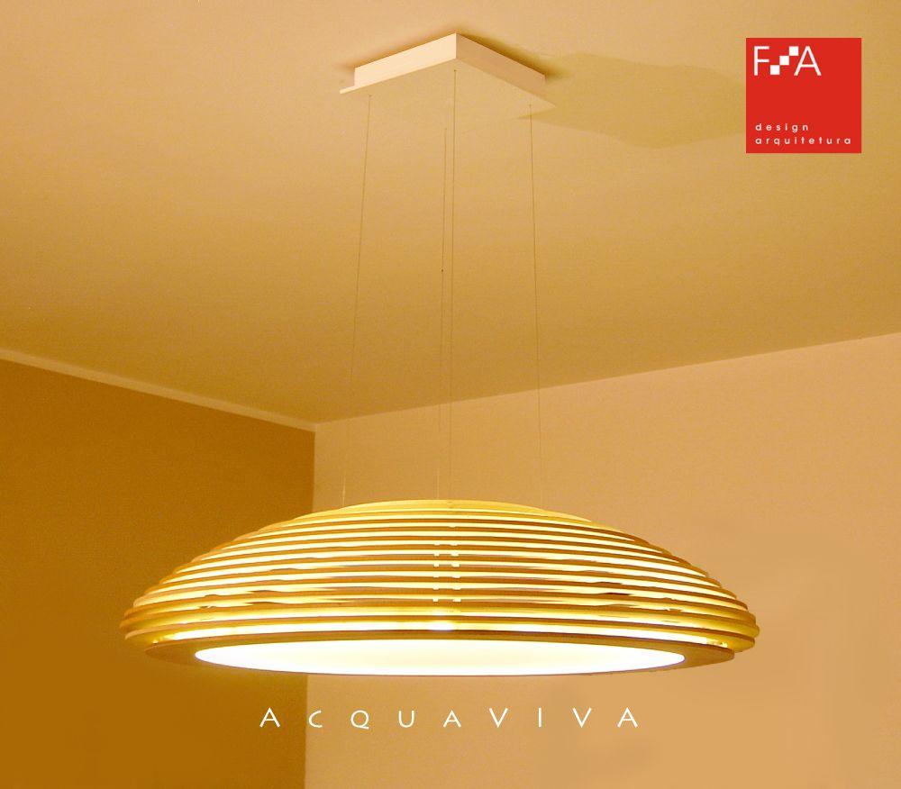 Lançamento FA Luminária ACQUAVIVA legno Lamp ACQUAVIVA