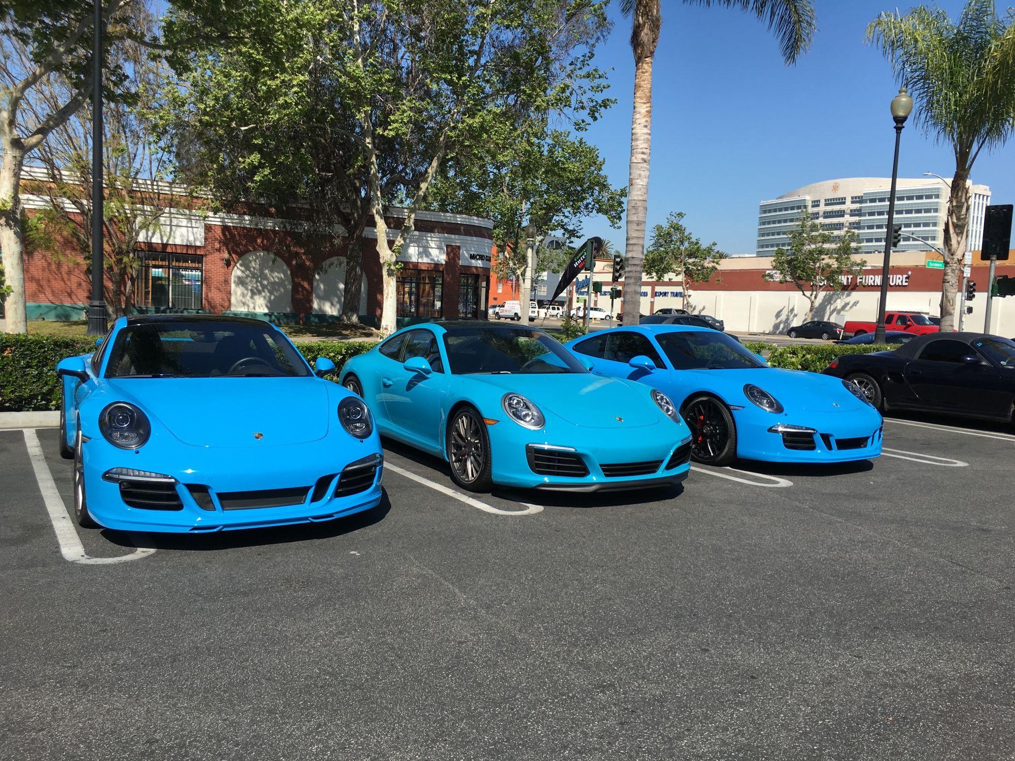 From left to right: Riviera Blue, Miami Blue, Mexico Blue | Miami ...