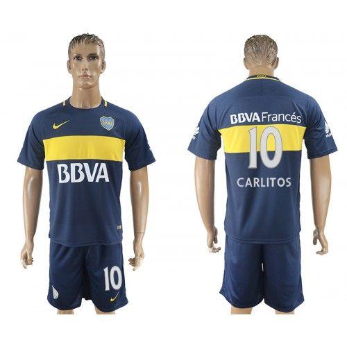 2017-2018 Equipaciones de Futbol Boca Juniors Forward 10 Carlitos Tevez  Home Azul Camisetas 04448fc286d2e