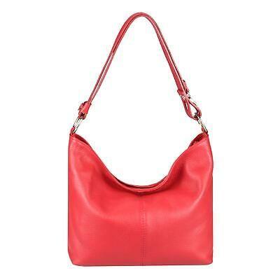 Photo of ITAL DAMEN LEDER HAND-TASCHE Shopper Hobo-Bags Schultertasche Umhängetasche: EU…