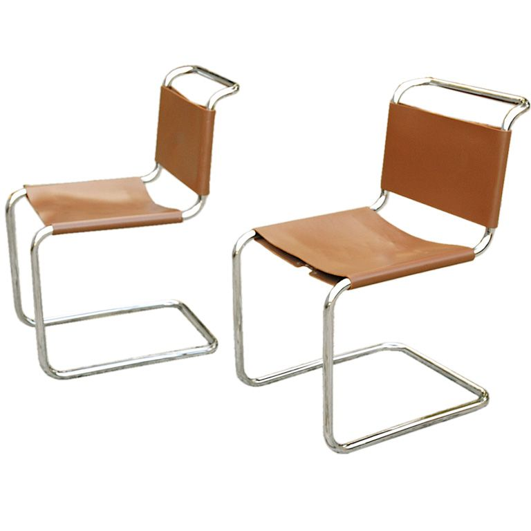 Pair of Marcel Breuer Spoleto Chairs for Knoll Marcel breuer