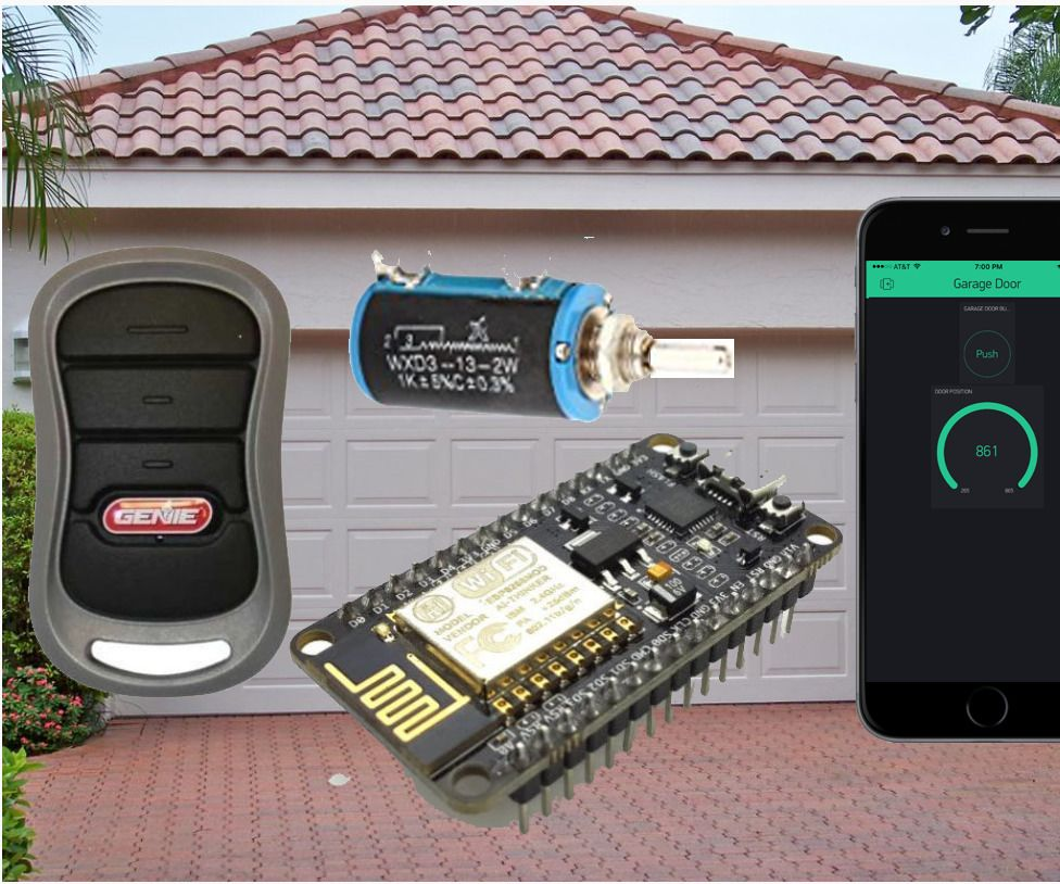 Is The Garage Door Open 8266 Iphone Android Garage Door Opener Garage Doors Garage Remote