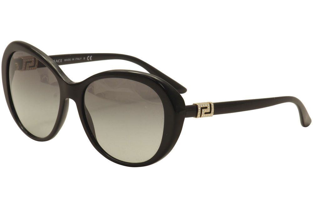 d83bbc87ad7 Versace Women s VE 4324 B 4324B GB1 11 Black Gold Butterfly Sunglasses 57mm
