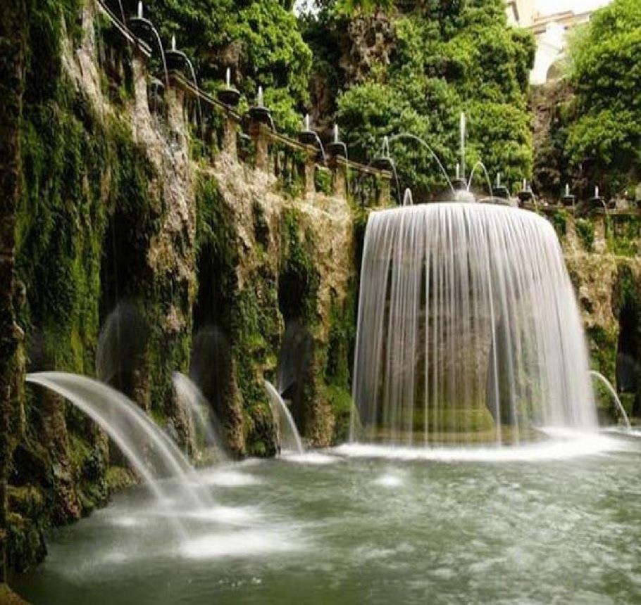 Oval fountain fontana dell ovato villa d este tivoli for Garden giardini