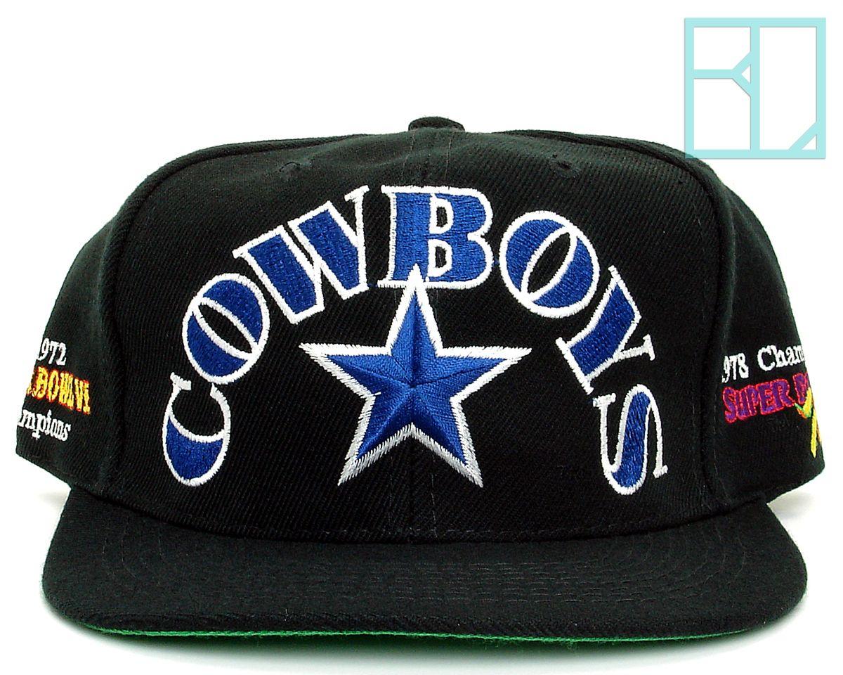 bd53efd5 New Deadstock Vintage Dallas COWBOYS Super Bowl Badge Annco Snapback ...
