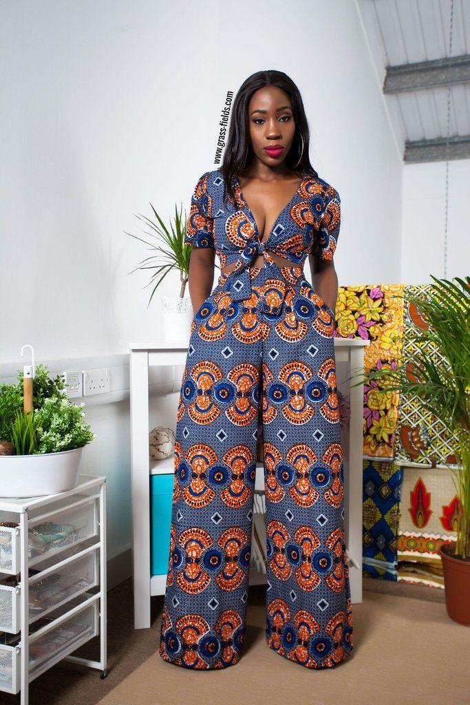 84aeb369d297 Toket African Print Wide Leg Pants