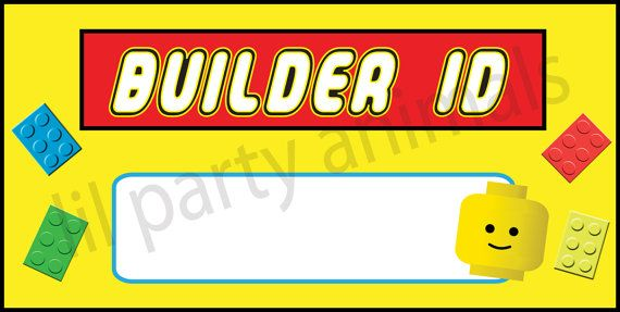 DIY Printable Lego Inspired Printable Name tags by LilPartyAnimals ...