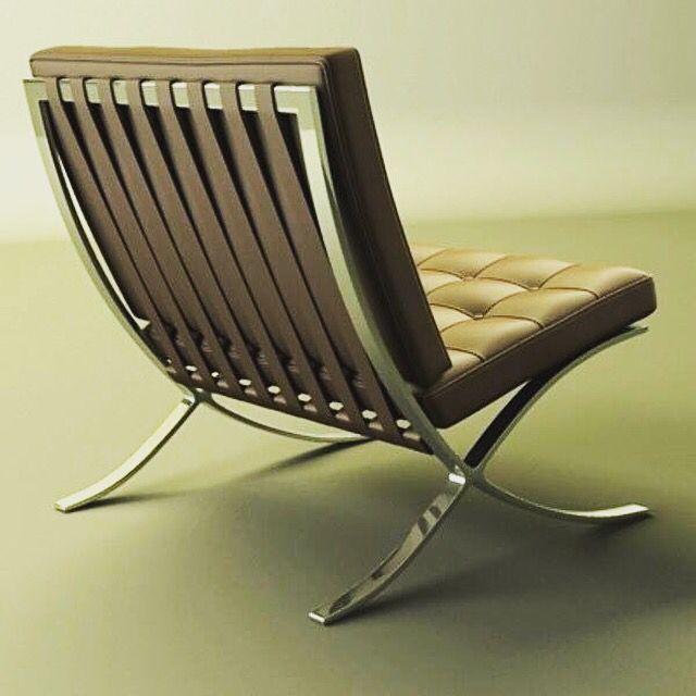 #Mies Van Der #Rohe Famous #Design #Classic #Barcelona #Chair Einst