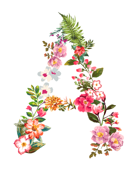 Beautifully designed and hand drawn, our Floral Letter