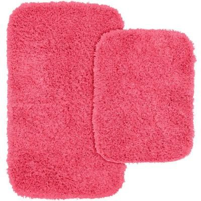 Garland Rug Jazz Pink 21 In X 34 In Washable Bathroom 2 Piece