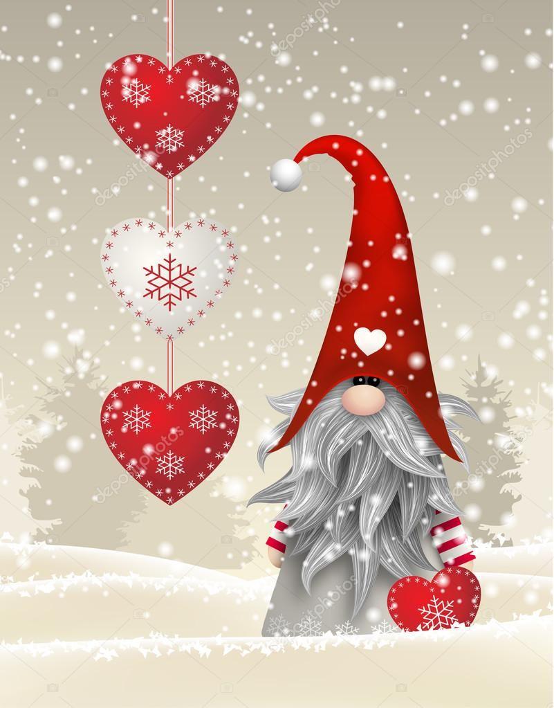 Image Result For Scandinavian Gnomes Christmas Drawing Christmas Art Christmas Paintings