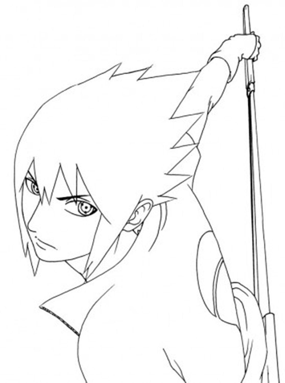 Sasuke Revoke Sword Coloring pages, Pokemon coloring