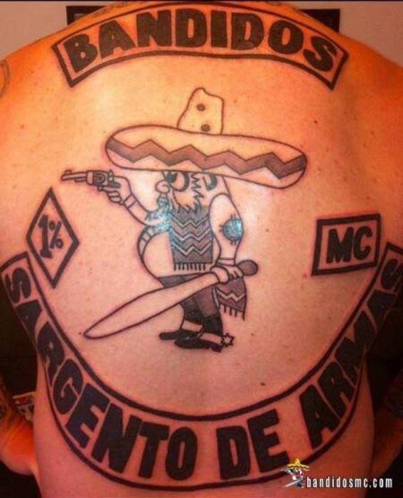 Bandidos mc gallery bandidos mc pinterest motorcycle for Tattoo art club