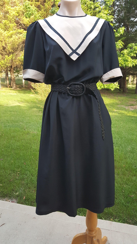 Vintage 70s Does 40s Julee Jones Black Beige Etsy Dresses 70s Dress Vintage Dresses [ 3000 x 1688 Pixel ]