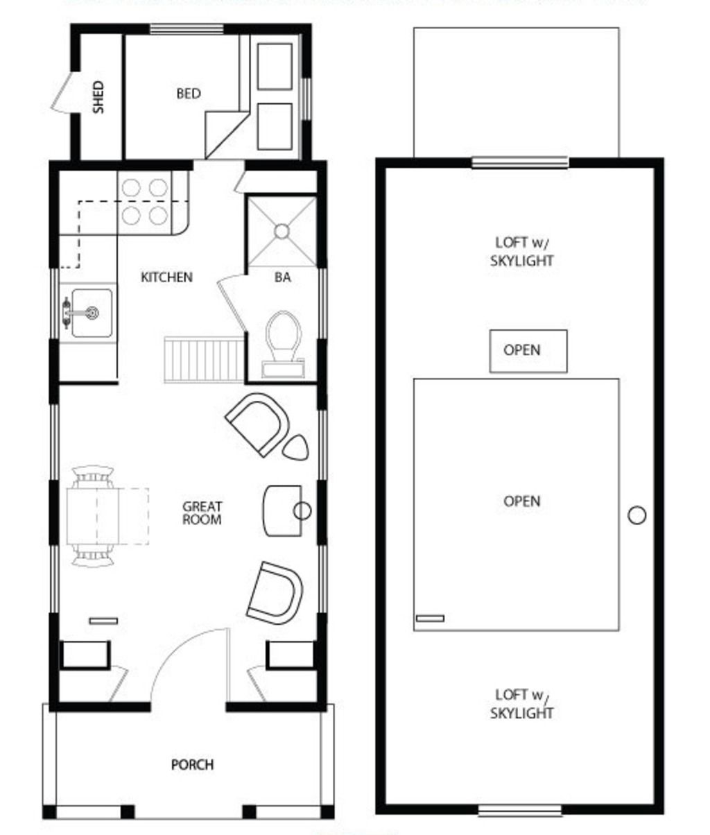 Main floor plan four lights tiny house plans for Main floor flooring ideas