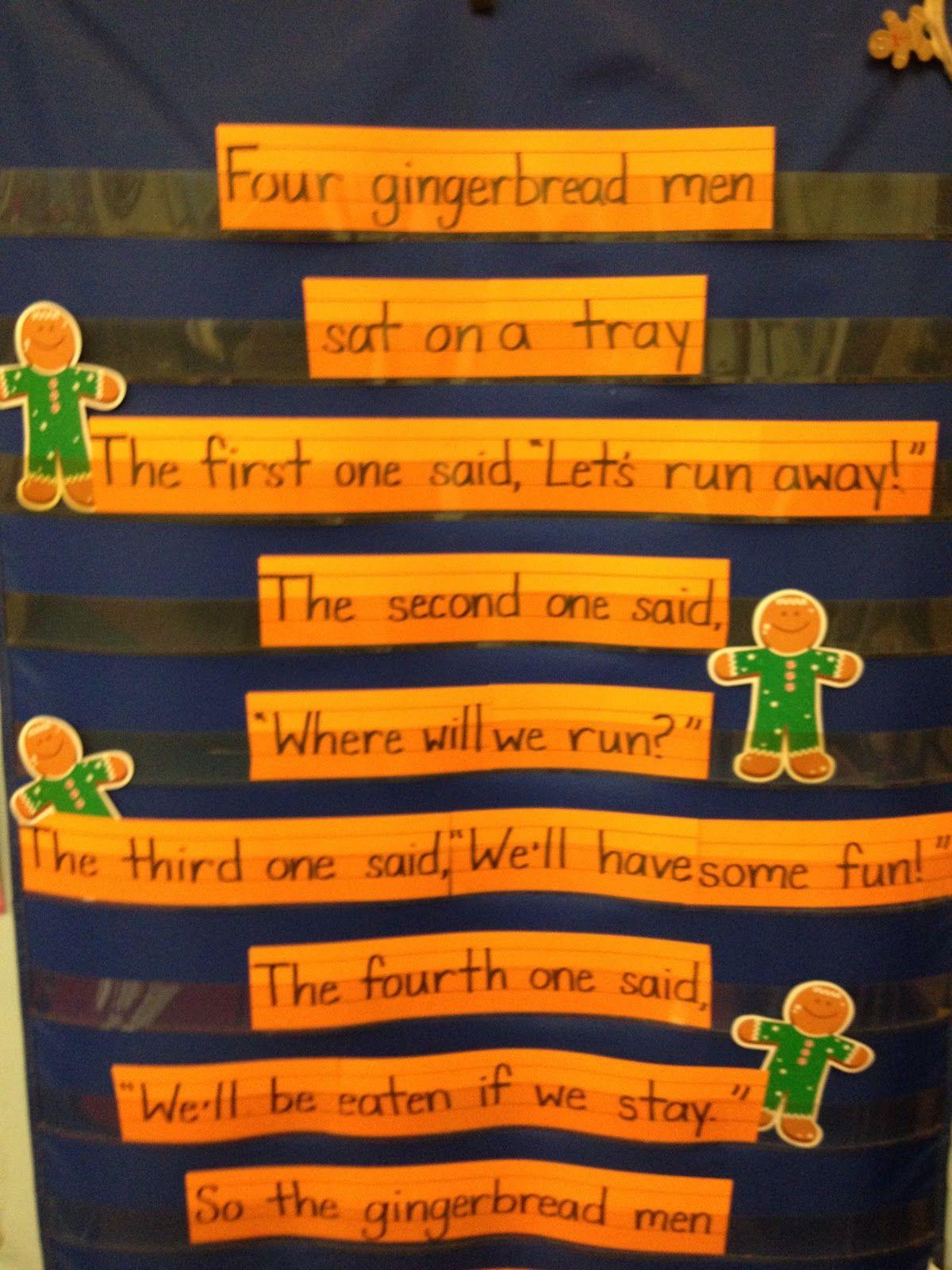 Four Gingerbread Men Poem