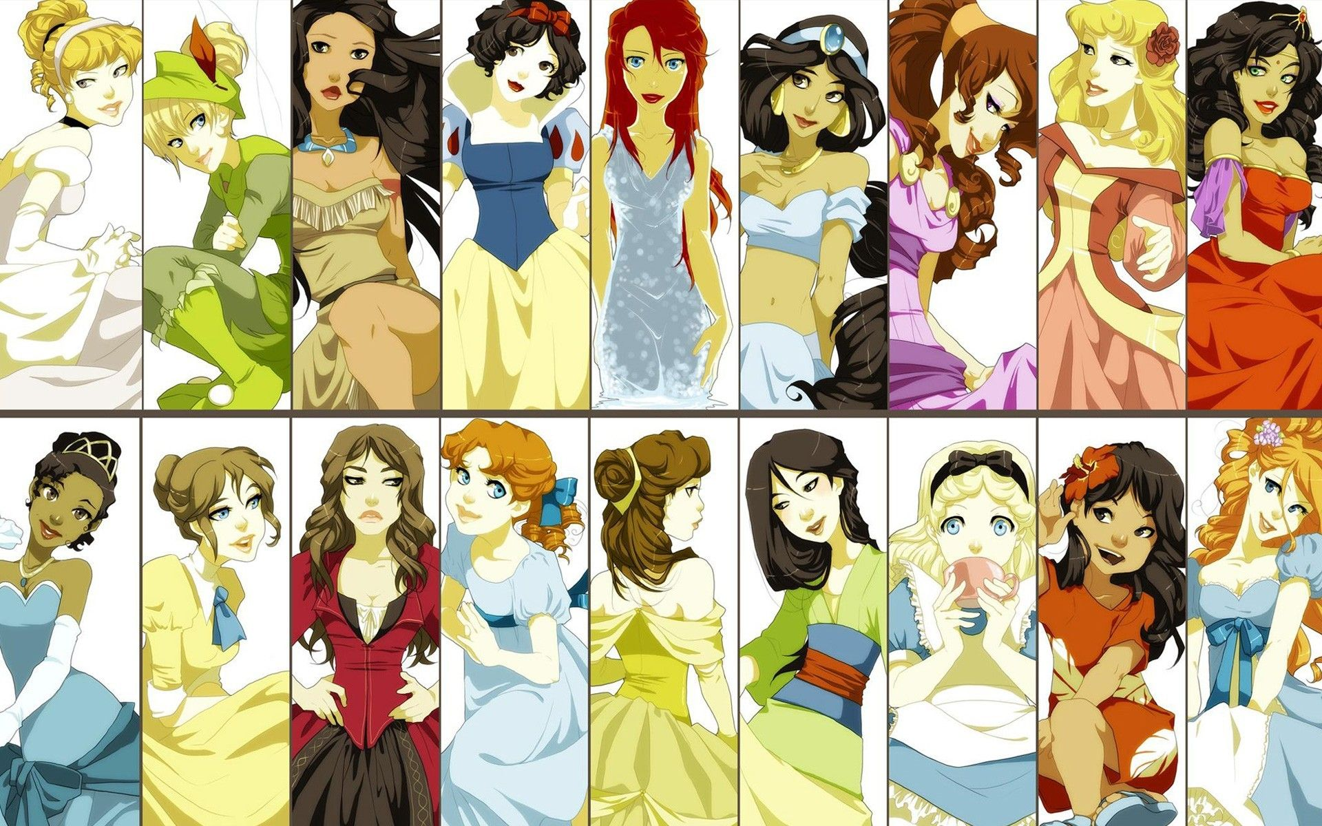 Alternative View Of The Disney Princesses Wallpaper