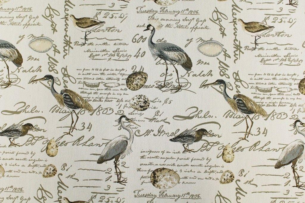 Birdsong Seamist Greenhouse Fabrics Upholstery Fabric Novelty Fabric