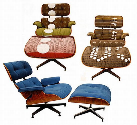 Eames lounge ottoman chairs with Maharam upholstery Furniture