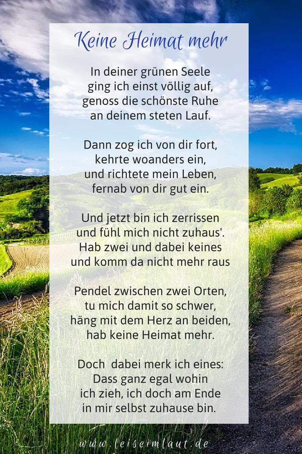 Keine Heimat Mehr Leise Im Laut Blog Gedichte Text Auf Deutsch Nachdenken