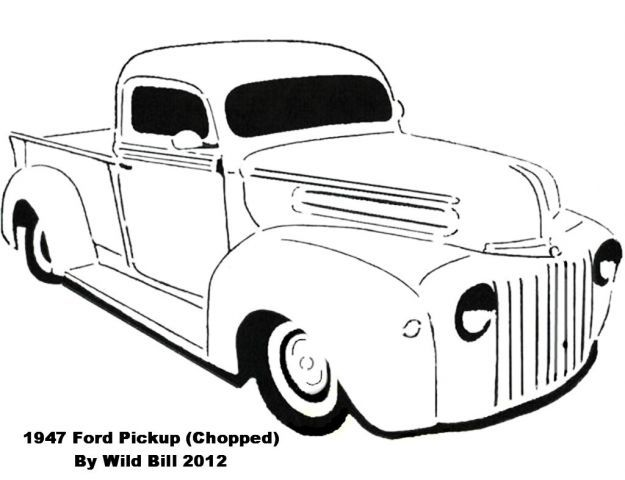 1947 ford pickup  chopped  - transportation