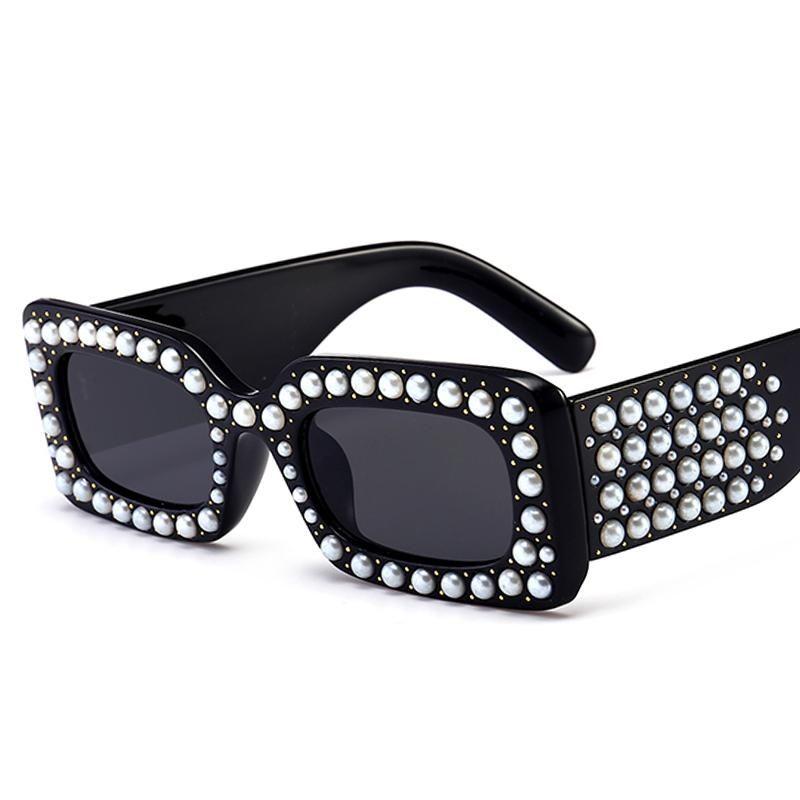 5fc066f7a9b Pop Age 2018 New Italy Brand Designer Clear Pink Square Sunglasses Pearl  Rihanna Sunglasses Luxury Pearl Frames lentes GG0146  sunglasses   salamingpang-araw ...