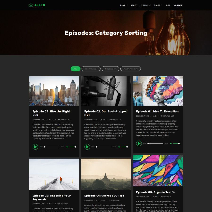 Tusant - a Podcast & Music Streaming WordPress Theme #amp