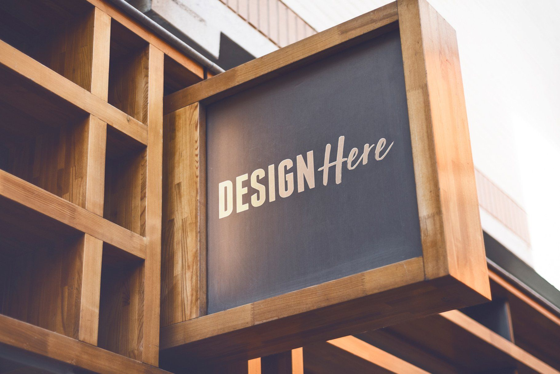 Wooden Luxurious Signboard Mockup Signboard Wooden Signage Shop Front Signs
