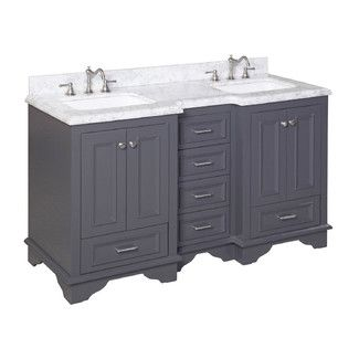 "Found it at Wayfair - Kitchen Bath Collection Nantucket 60"" Double Sink Bathroom Vanity Sethttp://www.wayfair.com/Nantucket-60-Double-Sink-Bathroom-Vanity-Set-KBC1260GYCARR-KBCL1140.html?refid=SBP"