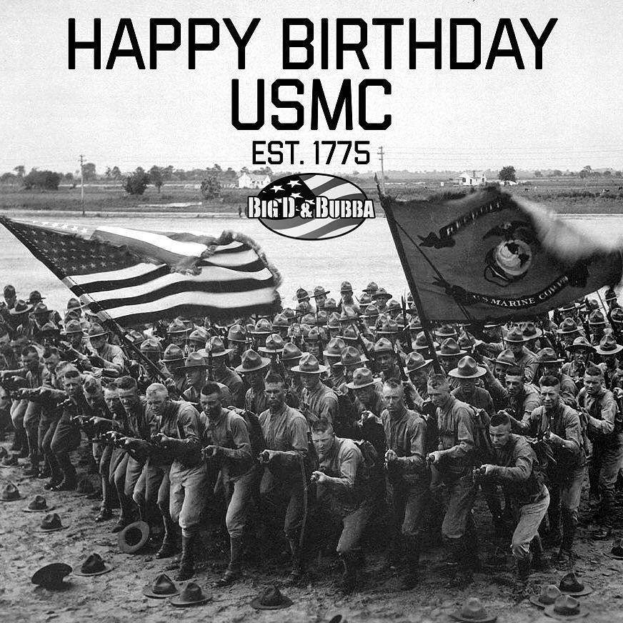 """Pin on USMC 10 November, 1775 """"Happy Birthday, Gyrene's""""!"""