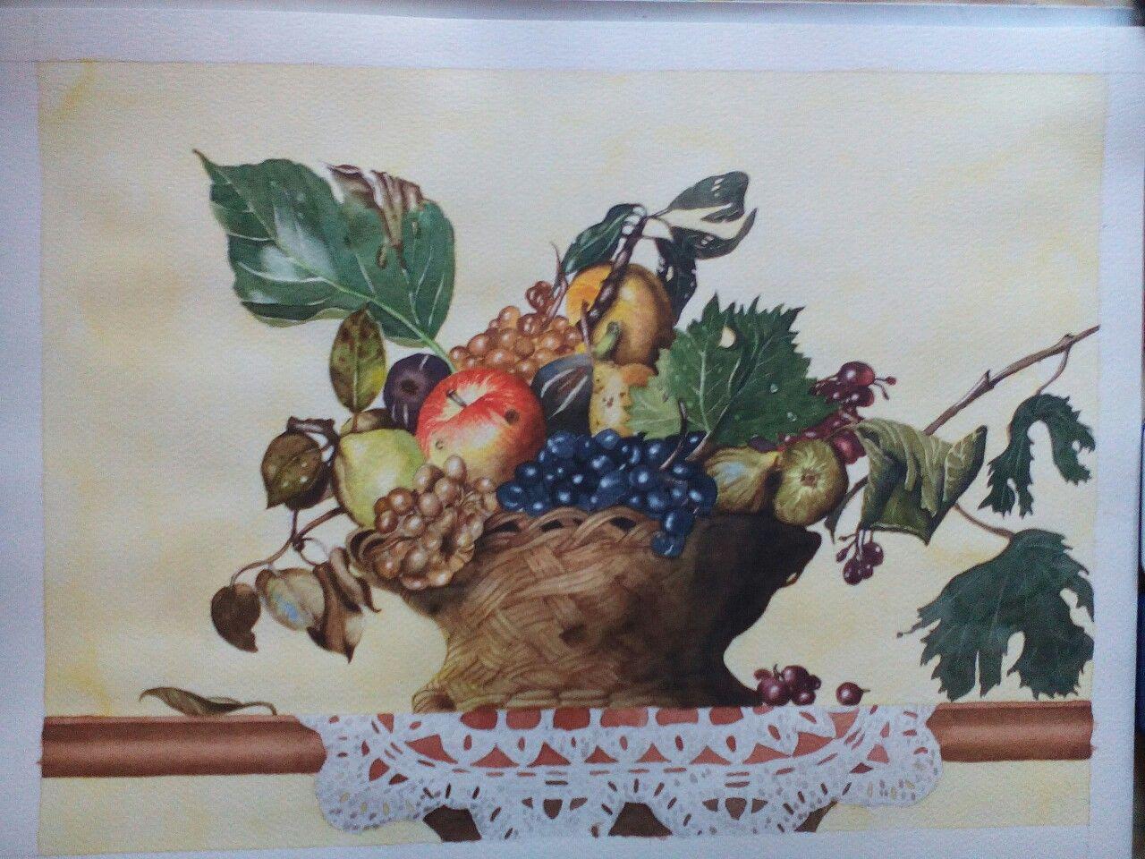 """Copia de """"la canestra di frutta"""" di Caravaggio ad"""