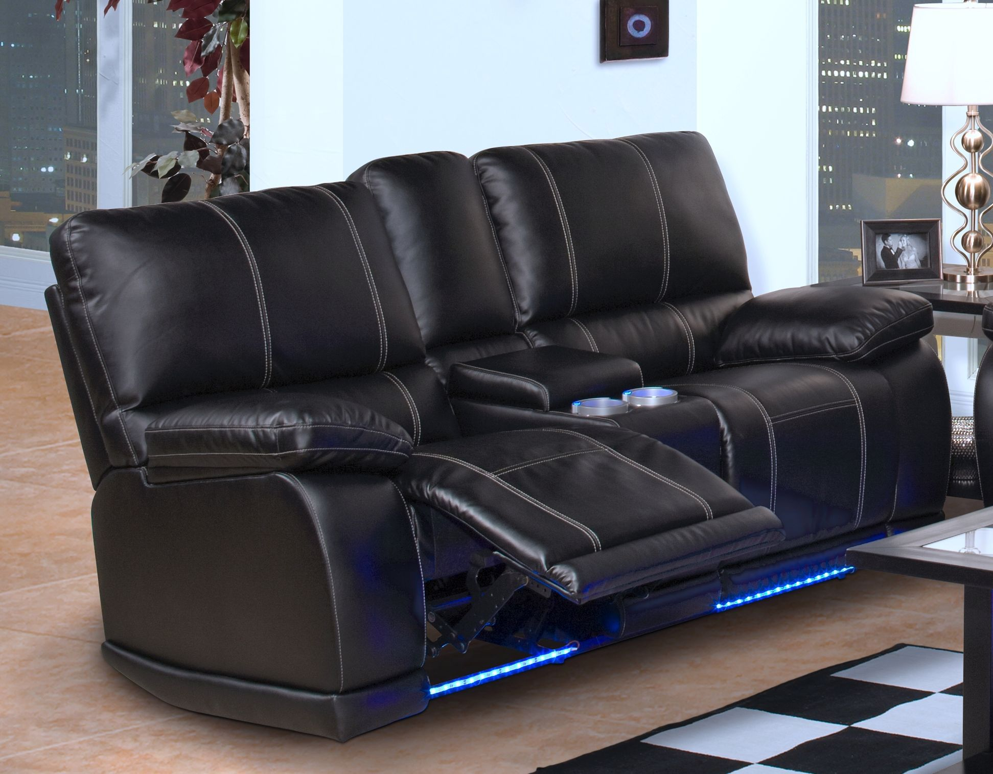 Black Leather Reclining Sofa Mk Outlet Home Leather Sofa .