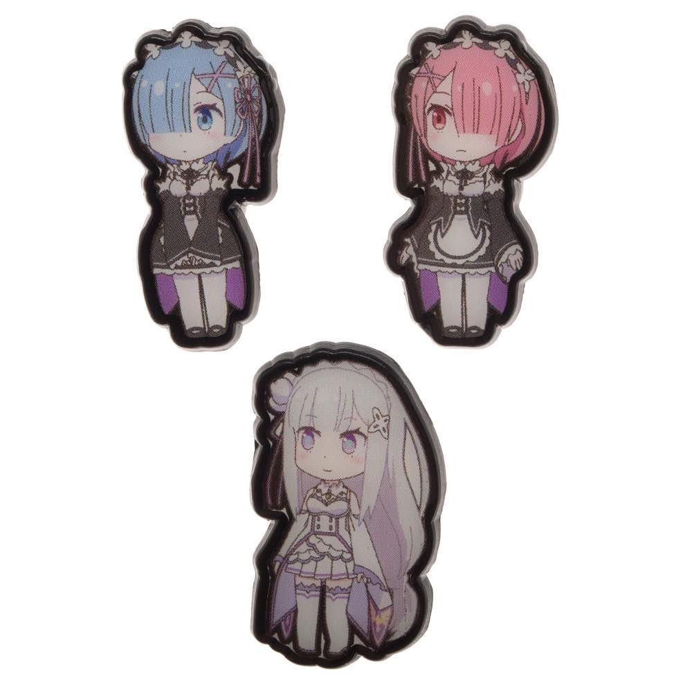 Officially licensed re zero set of 3 pins crunchyroll
