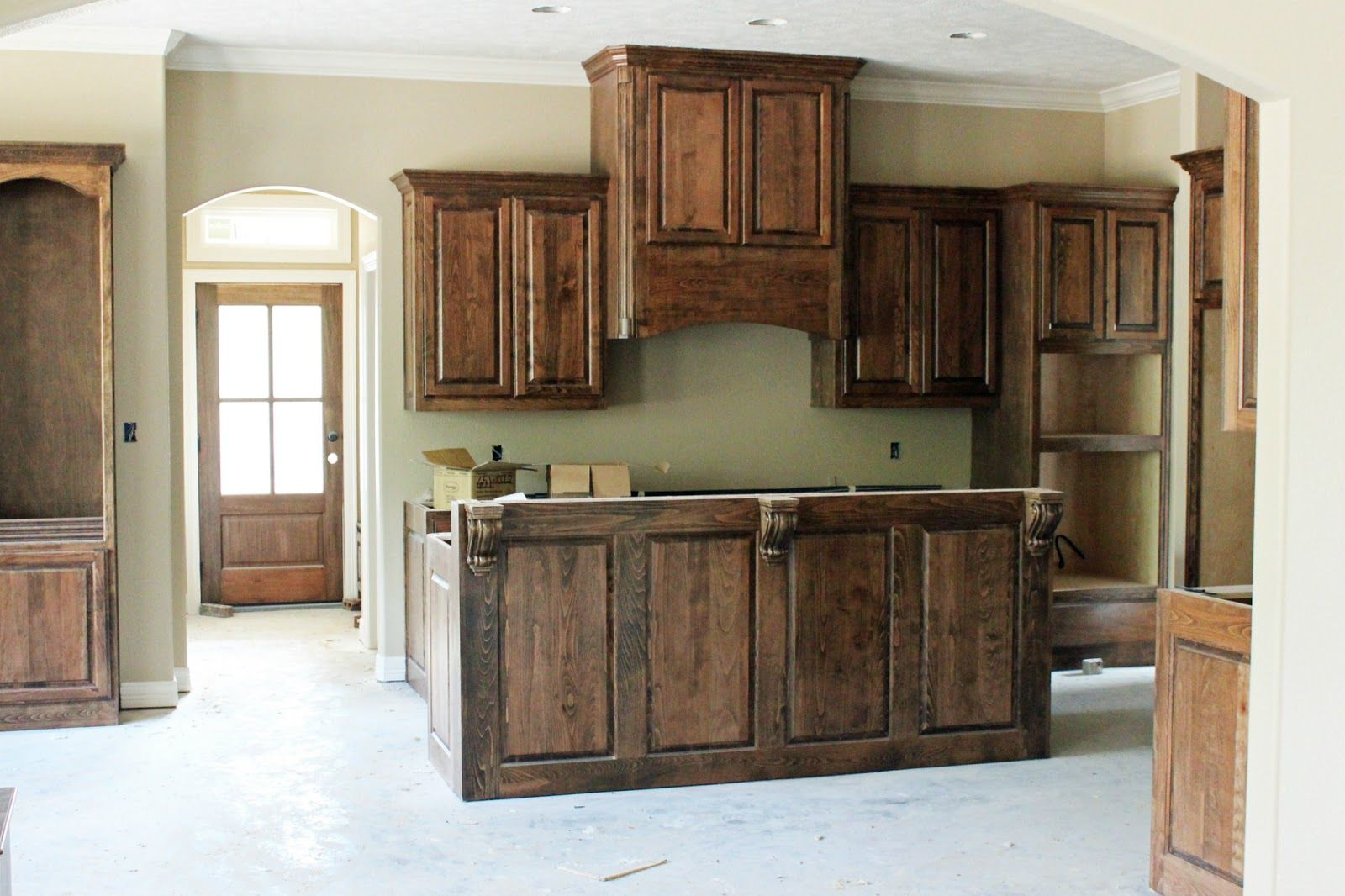 Bon Photos Of Acadian Stye Homes | Here Are The Kitchen Cabinets And A View  Into The