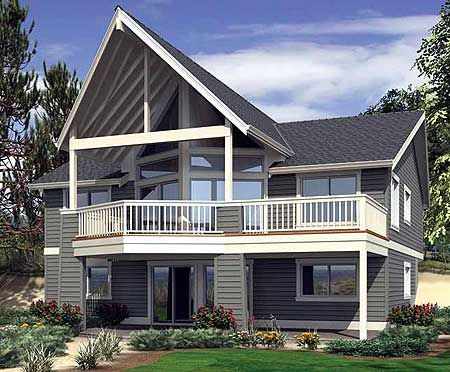 Plan 23391JD: Dramatic Views for Hillside Lot | Basement ...