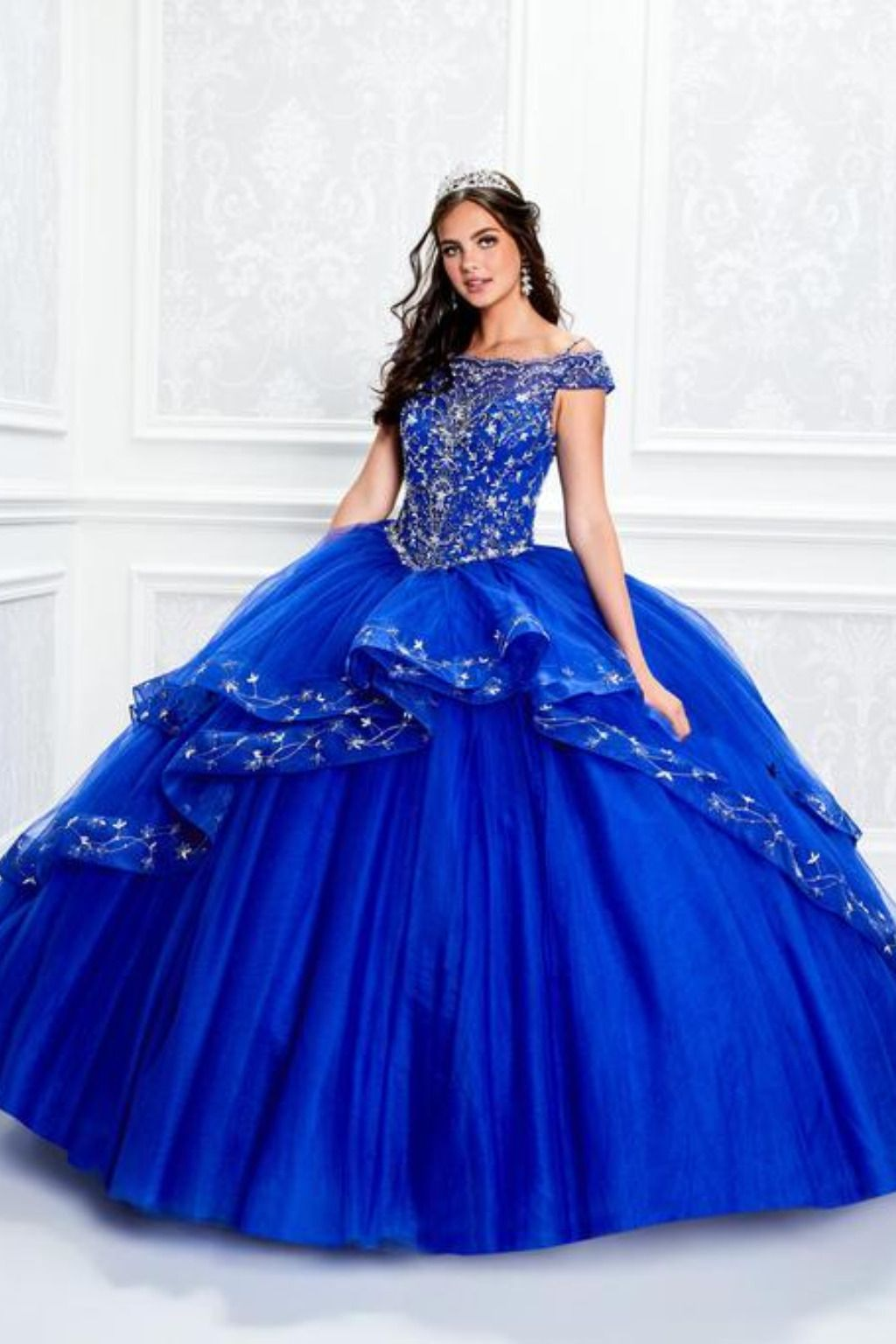 4c874bc96 ... this Princesa by Ariana Vara style is Tulle, Embroidered Lace & Hot  Stones. This style comes with a matching Shawl Quinceanera Collection Dress  PR11926 ...
