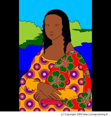 Coloriage La Joconde Léonard De Vinci Mona Lisa Pinterest