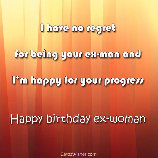 Wishing ex happy birthday