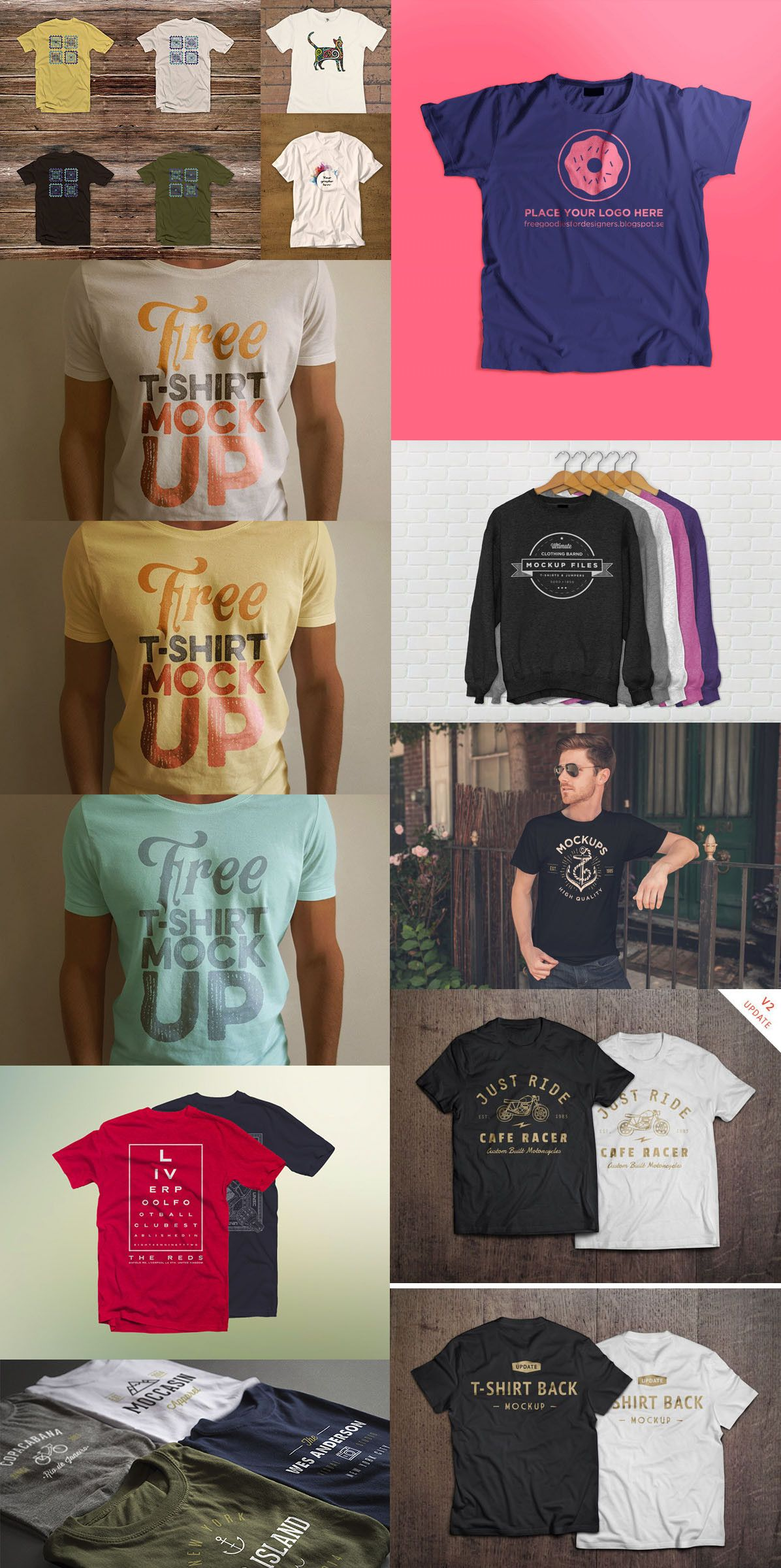 Download 51 Awesome Free T Shirt Mock Ups Psd Free T Shirt Design Clothing Mockup Tshirt Mockup Free