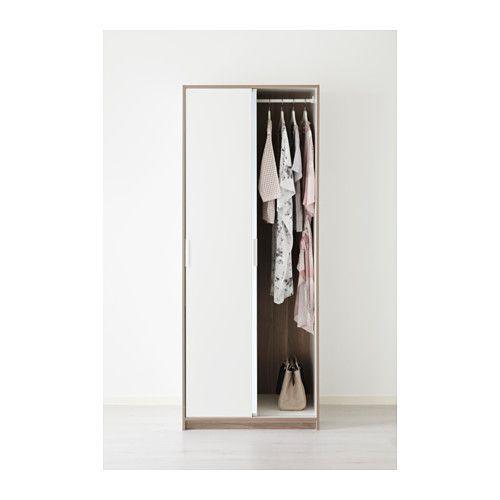Beautiful TRYSIL Kleiderschrank wei Spiegelglas