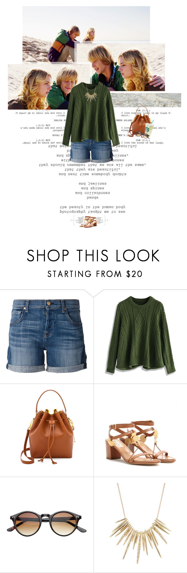 """""""Untitled 3704..."""" by thplacebo ❤ liked on Polyvore featuring 7 For All Mankind, Chicwish, Sophie Hulme, Valentino and Alexis Bittar"""