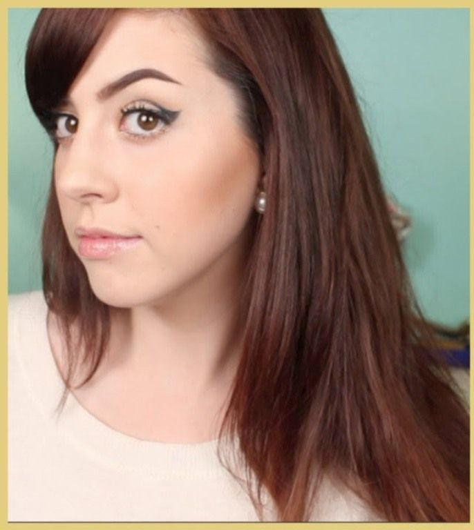 medium red mahogany brown hair