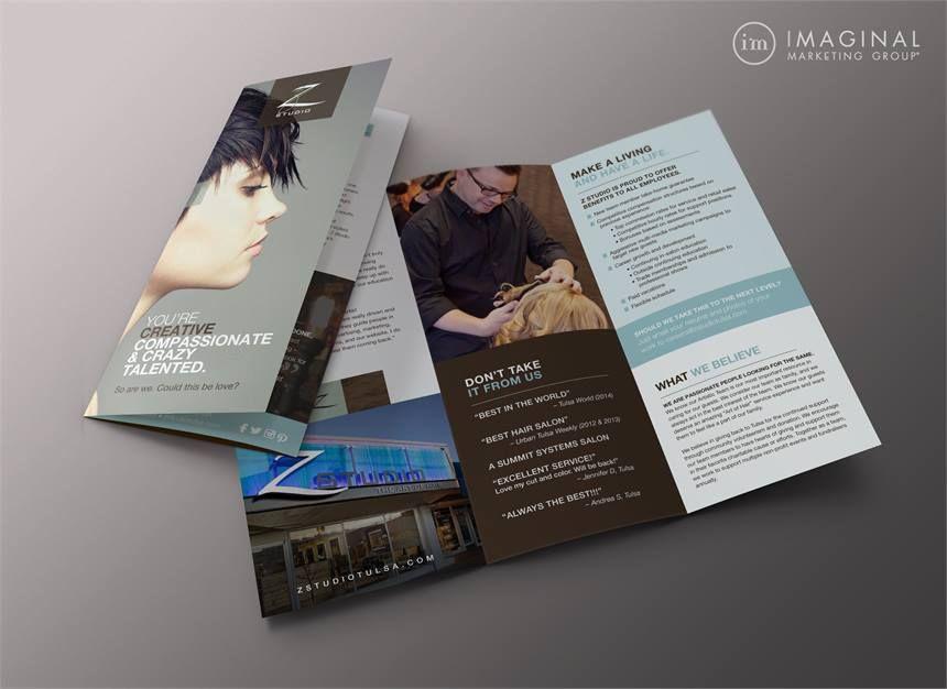 Stamp  Z StudioS Employee Recruitment Brochure  Salon